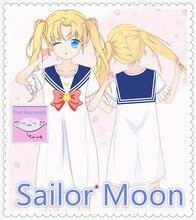 Anime harajuku Sailor Moon JK uniform Pajamas/Bathrobe/Dress/Shirt cosplay couples costumes girls women clothes 2019.