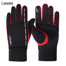 Lawaia Fishing Gloves Touch Screen Plus Velvet Warm Gloves Non-slip Windproof Waterproof Sports Fishing All Refers To Winter цена 2017