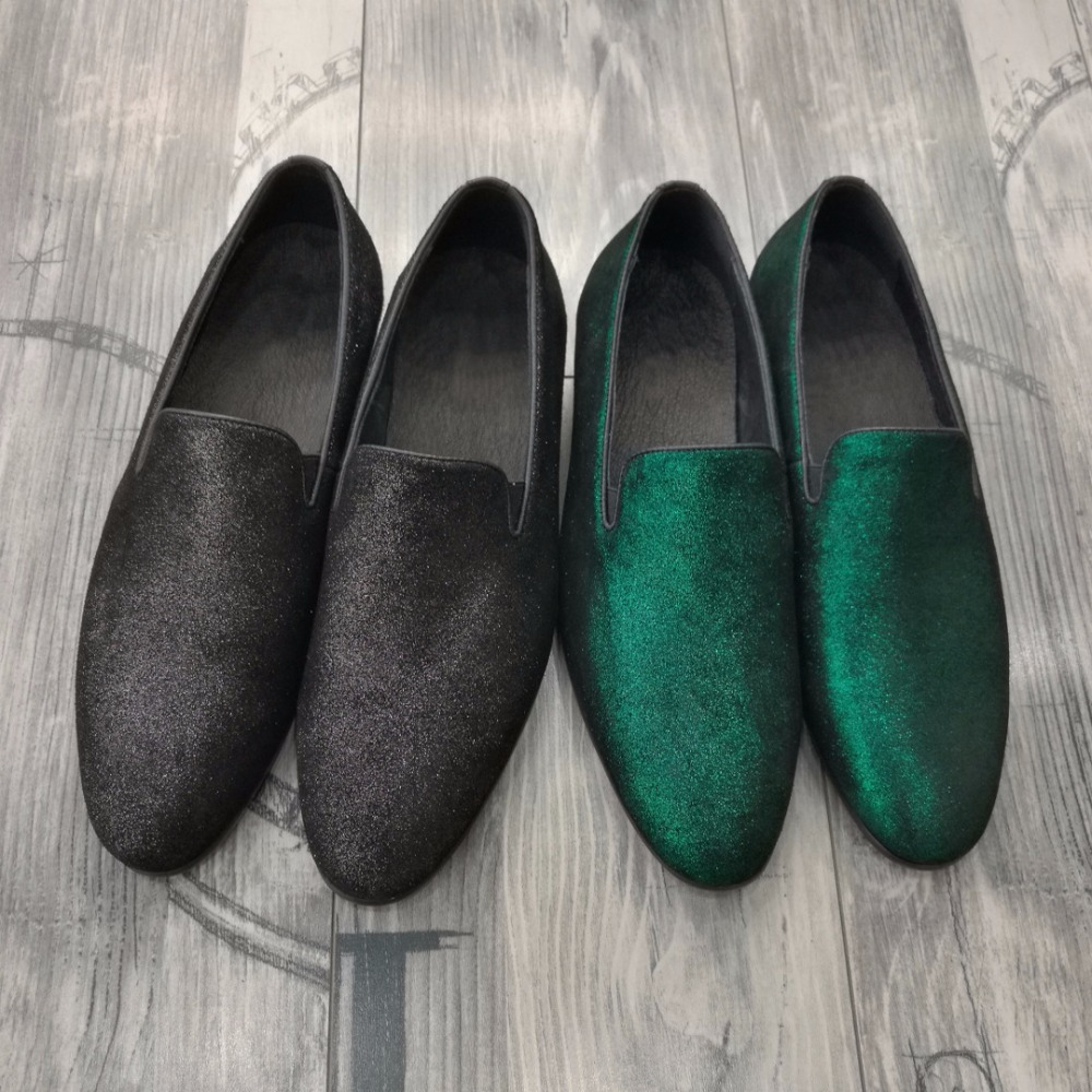 Green Black Loafers Satin Dress Wedding Shoes Flat heel Genuine leather Slip on Driving Boats Summer Breathable Shoes Hombre satin slip sleep dress