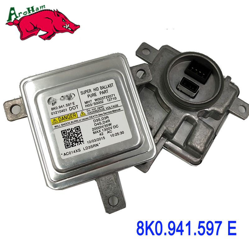 Aroham OEM! 8K0941597 8K0941597C 8K0941597E 2048703226 For AUDI A5 2008-2014 LED XENON HEADLIGHT BALLAST MODULE For Mitsubishi