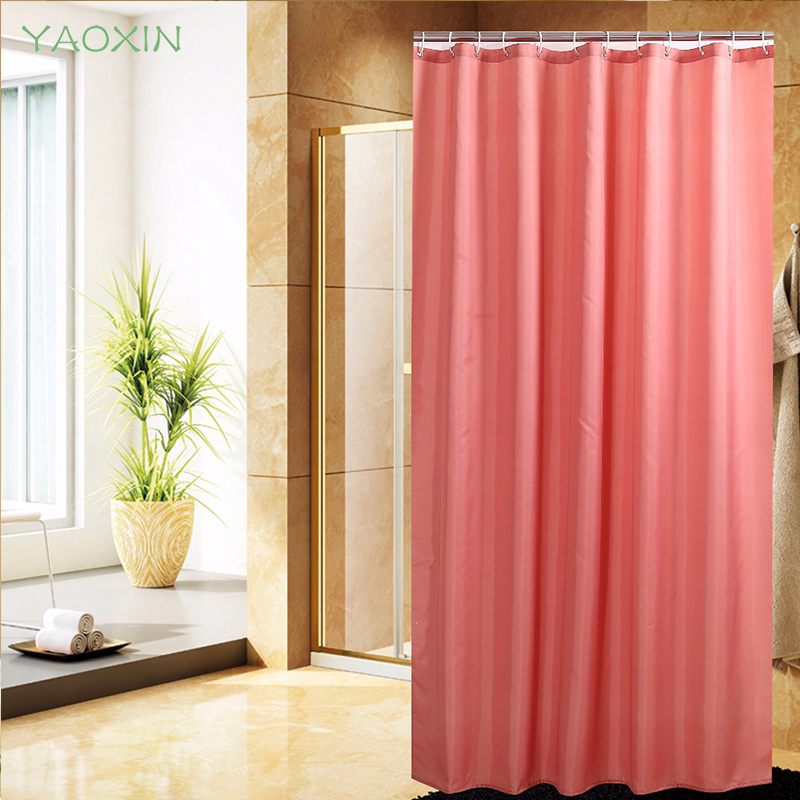 Solid color Collection shower curtain Polyester Waterproof Thickened ...
