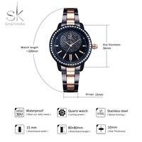 Shengke Rose Gold Watch Women Quartz Watches Ladies Top Brand Crystal Luxury Female Wrist Watch Girl Clock Relogio Feminino 5
