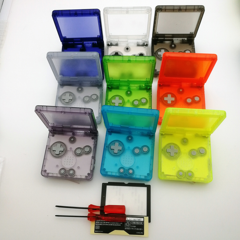 Transparent Clear white Green purple black Red GITD Luminous For GameBoy Advance SP Shell For GBA SP console Housing Case Cover(China)