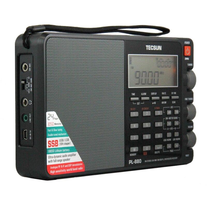 Tecsun PL-880 High Performance Full Band portable Digital Tuning Stereo Radio with LW/SW/MW SSB PLL Modes FM (64-108mHz)