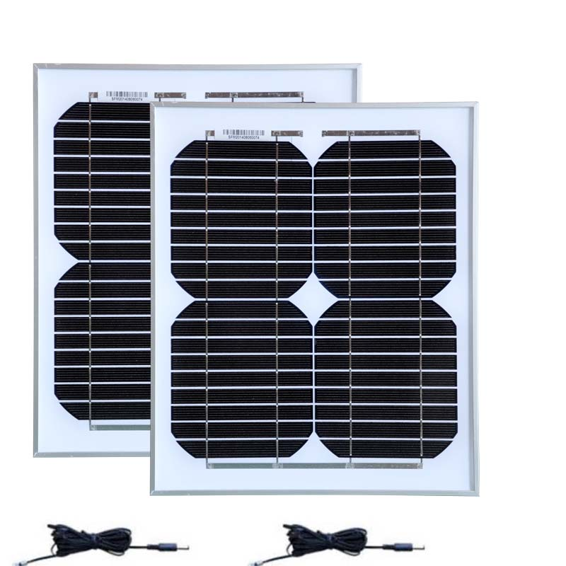 цена на Solar Kit Set :Free Shipping Poratble Small Solar Panels 12V 10W 2 Pcs /Lot PV DC Cable Battery Charger Camp Caravan LED Light