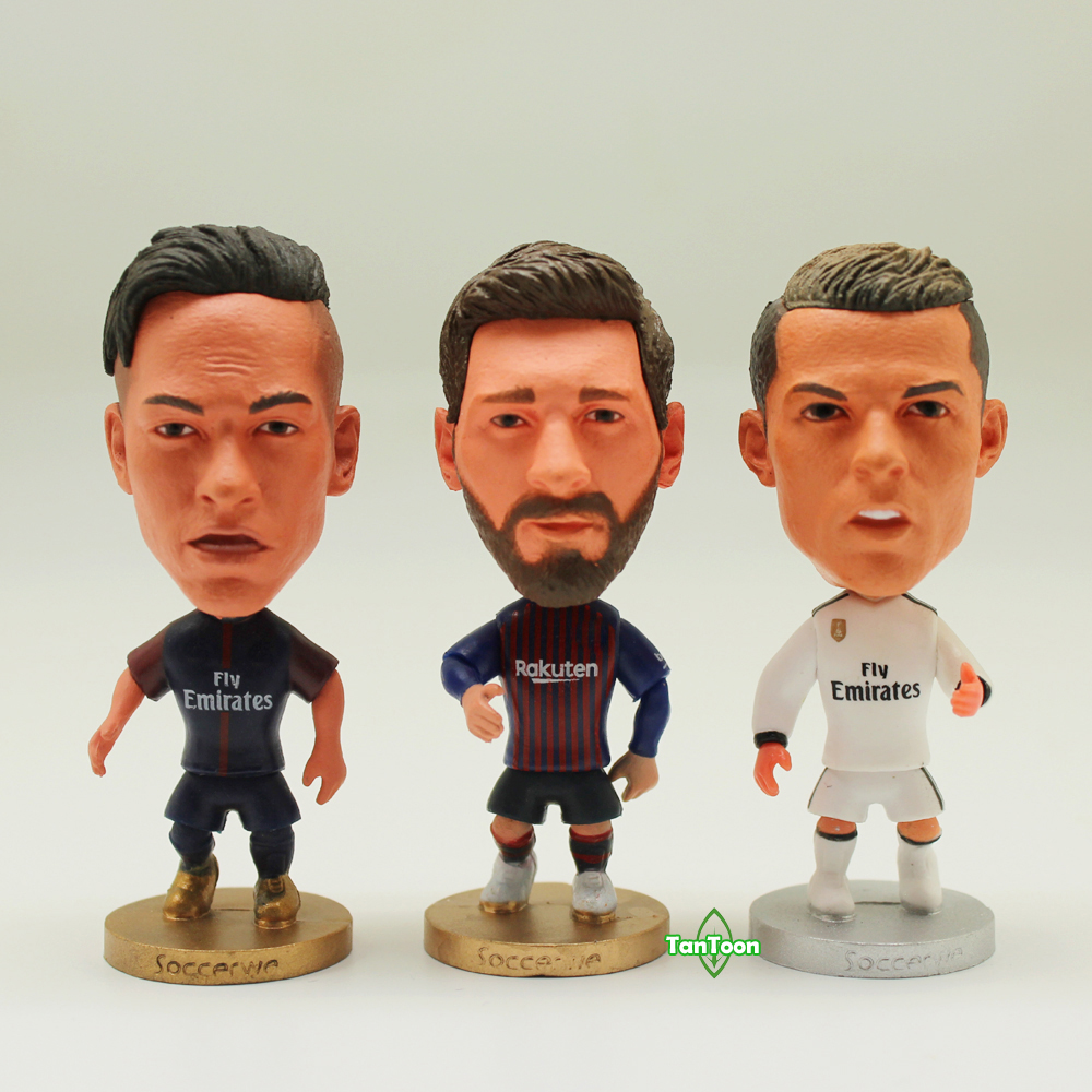 "3pcs//lot Soccer Player Star MESSI /& SUAREZ /& COUTINHO 2.5/"" Action Dolls Figurine"