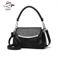 New Vintage Mini Clutch Women Messenger Bags Flap Solid Color Lady PU Leather Crossbody Shoulder Bags Small Female Handbags Tote