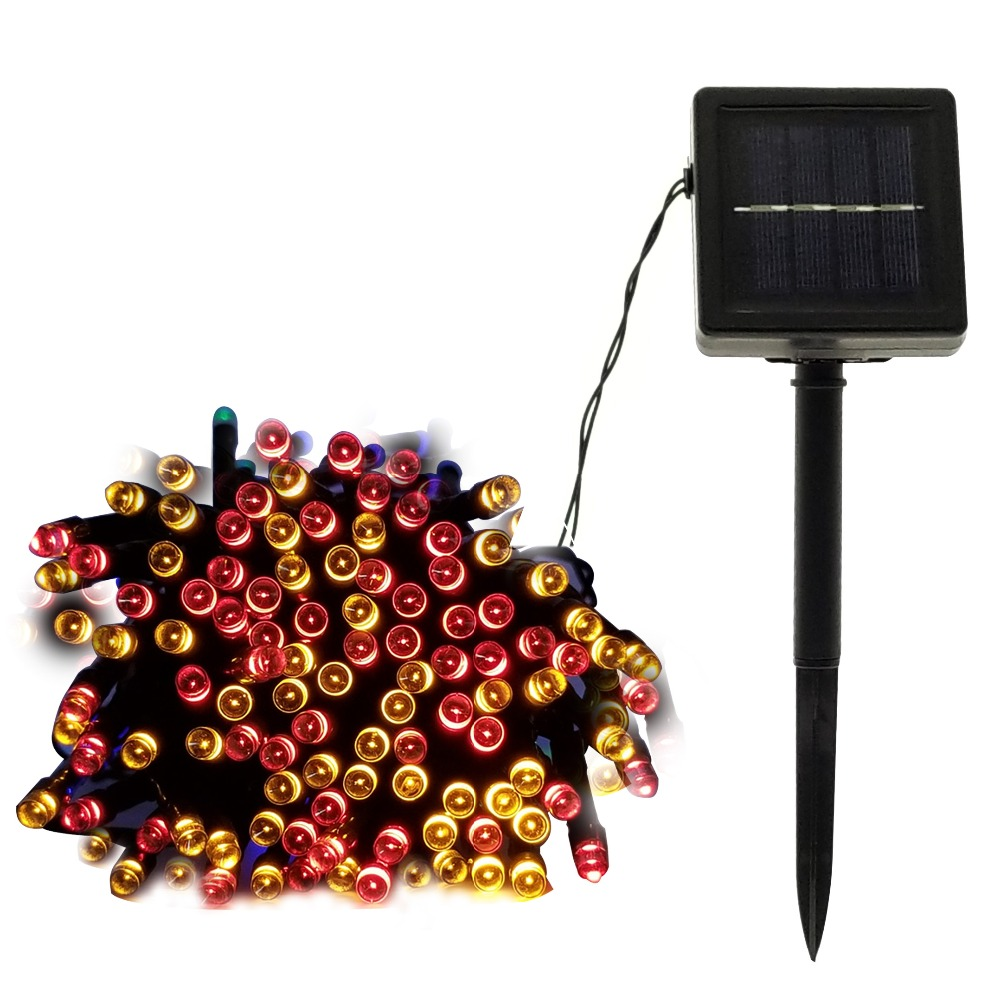 Led Christmas Tree Garland Houses/Street Garden Waterproof Solar Chain String Fairy Lights Outdoor Valentines Decoration