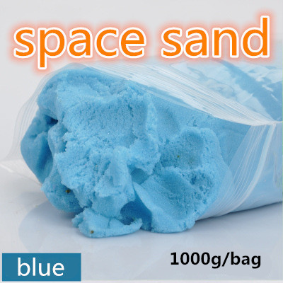 1bag 1000g/bag dynamic educational Amazing No-mess Indoor Magic Play Sand Children toys Mars space sand wholesale free shippin 1000g dynamic amazing diy educational toy no mess indoor magic play sand children toys mars space sand