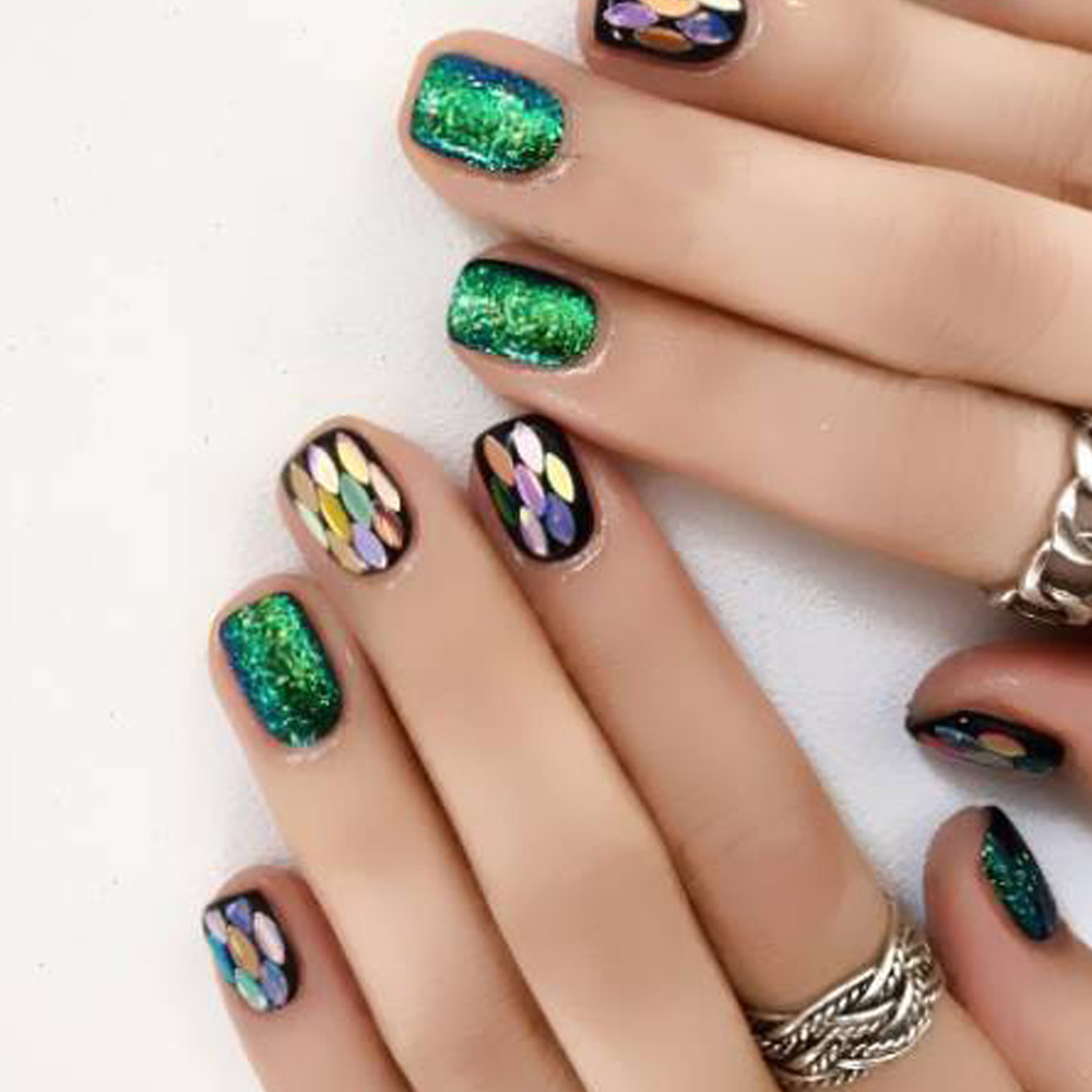1 Set 3D Thin Sequin for Nail Glitter Polish Eye Horse Designs ...