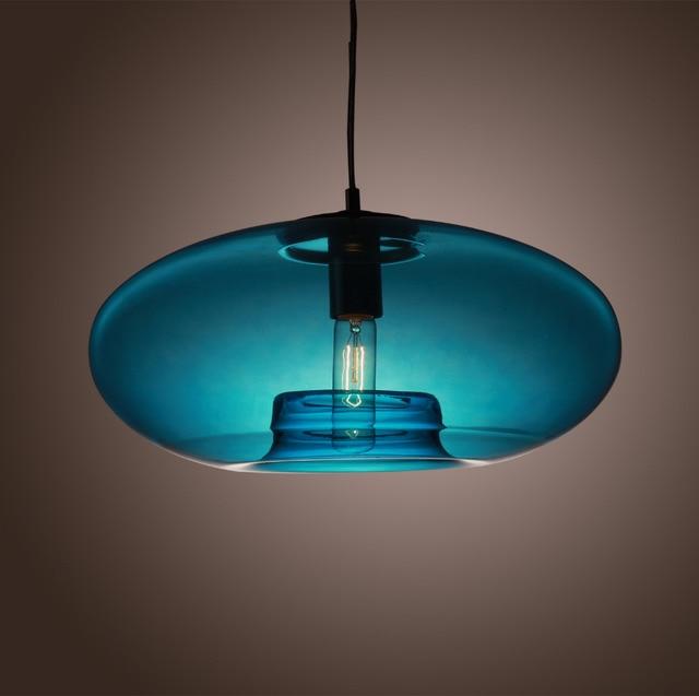 American modern glass pendant liights with blue round glass lamp american modern glass pendant liights with blue round glass lamp shade light fixtures 110v 220v aloadofball Image collections