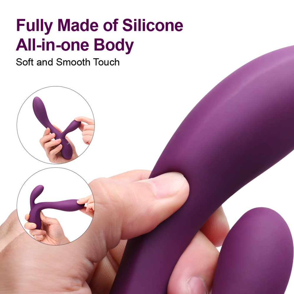 Luvkis 10 Modes G Spot Rabbit Vibrator Dildo Massage Fully Silicone Crafted USB Charged Waterproof Vibrator