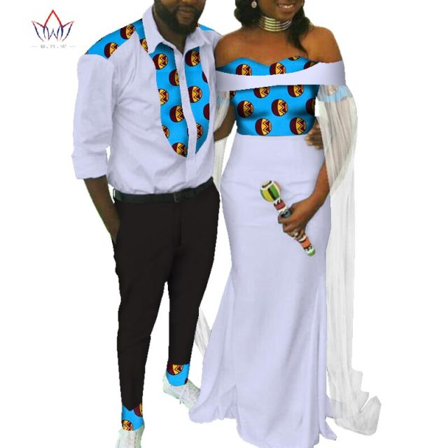 7ab4e46056 2018 new Men Sets and women's clothing for the wedding summer traditional  african clothing couples matching clothing 4xl WYQ103
