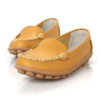 Koovan Women Flats 2017 New Leather Mother White Nurse Shoe Peas Work Flat Shoes Comfortable Women
