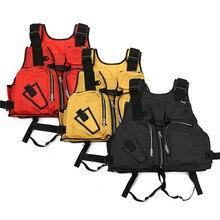 Outdoor Sport Safurance Nylon Adult Aid Sailing Swimming Fishing Vests Boating Kayak Safety Life Jacket Fishing Clothing