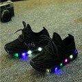 Новые дети shoes with light 2017 мальчиков/девочек shoes chaussure led enfant ребенка дышащие мальчики кроссовки tenis светящиеся кроссовки
