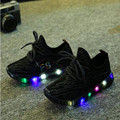 New children shoes with light 2017 boys/girls shoes chaussure led enfant child breathable boys sneakers tenis glowing sneakers