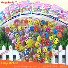 10 sheets/set Cute Emoji Smile Sticker for kids Home wall decor Notebook Message Children Cartoon Vinyl Creative Decor stickers 27 sheets 1300 style cut emoji sticker smile for notebook message high vinyl funny creative free shipping