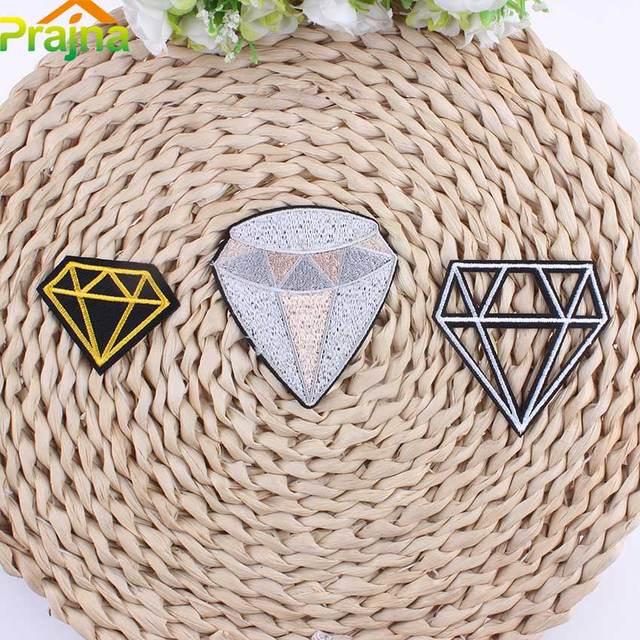 Hot Sale Cheap Embroidery Black Diamond Patch Applique For Clothes