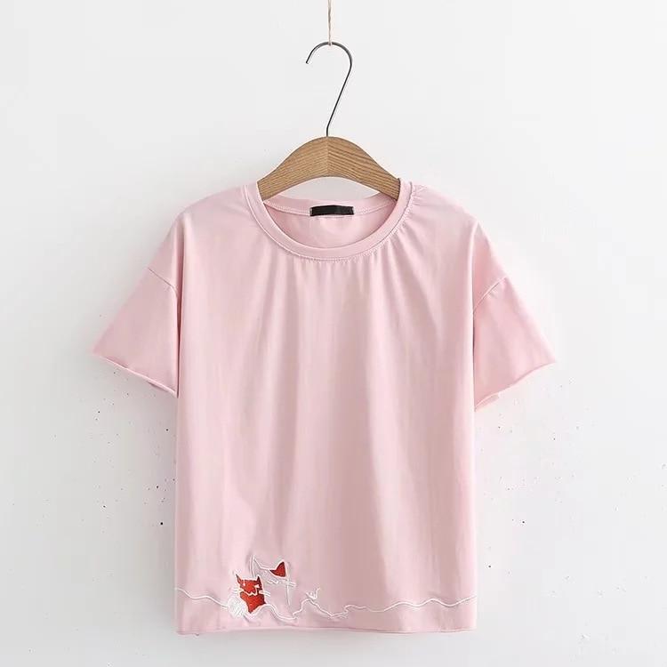 2018 nuova usura di estate sexy camicia maniche corte degli studenti allentato lato tuta T shirt Casual del Cotone di Estate