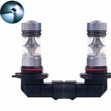 9005 HB3 Противотуманные огни 100 Вт белый 6500 K 12 V автомобильный светодиодный свет светодиодный проектор DRL Габаритные огни для вождения авто светодиодный светильник