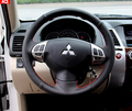 Car Black Leather Steering Wheel Cover for Mitsubishi Lancer EX Outlander ASX Pajero For Mitsubishi Pajero 2014 2015 2016