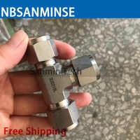 NBSANMINSE 5 teile/los UT SS316L Union T Fitting Anschluss Edelstahl Fest Rohr Fitting Labor Anwendung
