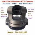 FLA-SDI10XP 1080 P SDI Câmera 2 MP PTZ reunião de Vídeo, HD-SDI 10x Zoom Óptico Câmera de Vídeo Conferência VISCA PELCO-D Plug & Play