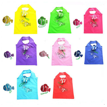 Reusable Shopping Bags Foldable Eco Bag Tropical Fish Tote Bag Large Capacity Rose Storage Handbags Recycle Pouch tropical leaves tote bag