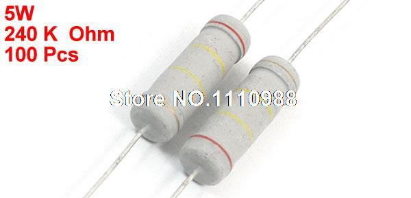 Electronics-salon 10/pcs 1/m Ohm//1/000/000/Ohm 5/watts 5/W en m/étal Oxyde film r/ésistance.