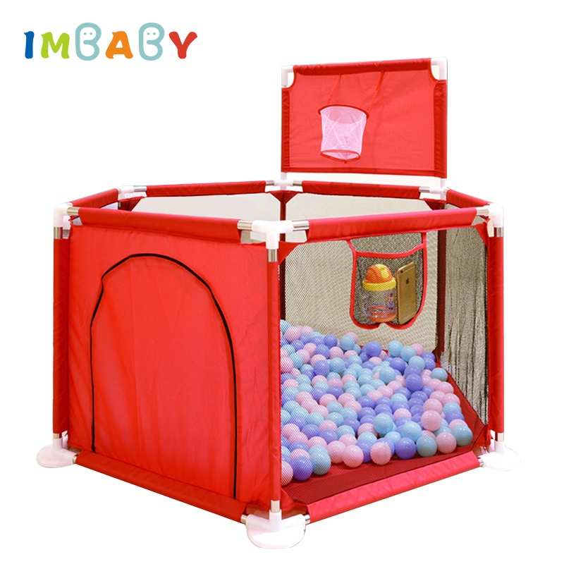 IMBABY Playpen for Children Playpen Pool Balls Baby Playpen Ball Pool for Baby Fence Metal Supporting