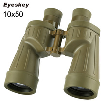 Military 10×50 Binoculars Waterproof Eyeskey Binoculares Professional with Built-in Rangefinder Telescope Bak4 Prism