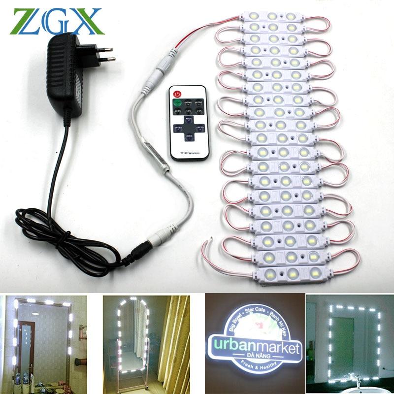 Lámpara Impermeable Coche Led 3 Ajustable Luz Cosmético Brillo Tocador Plegable Decoración Maquillaje Mesa De Espejo Escritorio 8Omnv0Nw