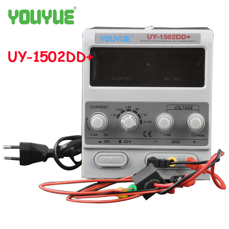 UYUE 15V 2A Adjustable DC Power Supply Mobile phone repair power test regulated power supply UY-1502DD+ yh 1502dd 15v 2a adjustable variable dc power supply