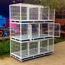 Large VIP pet dog cage cat with three double off aquaculture