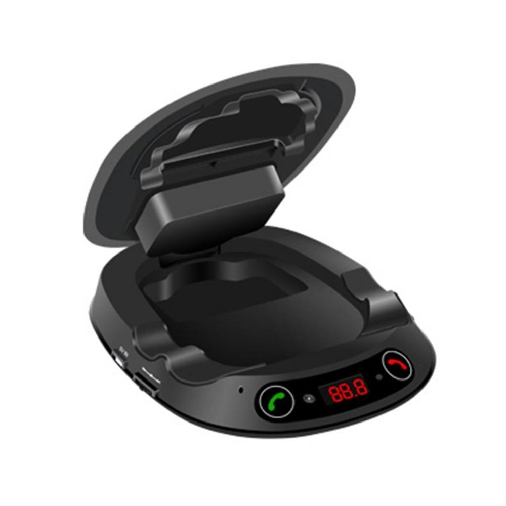Smart Bluetooth Mains Libres TF MP3 Musique Jouer Téléphone De Voiture Titulaire Sucker Type De Voiture Center Console Smartphone Mont Stand