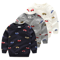 Free Shipping New 2015 Spring Autumn Cartoon Car Casual Children Sweatshirts For Boys Sweaters Kids Tops