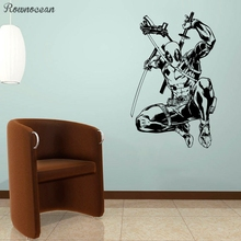 Deadpool Vinyl Sticker Comics Superhero Wall Art Animated Poster Boys Room Decals Interior Print Decorations Murals Gift SP23