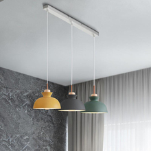 Nordic lighting modern 3 head restaurant chandelier simple personality creative coffee shop macaron plendant lights