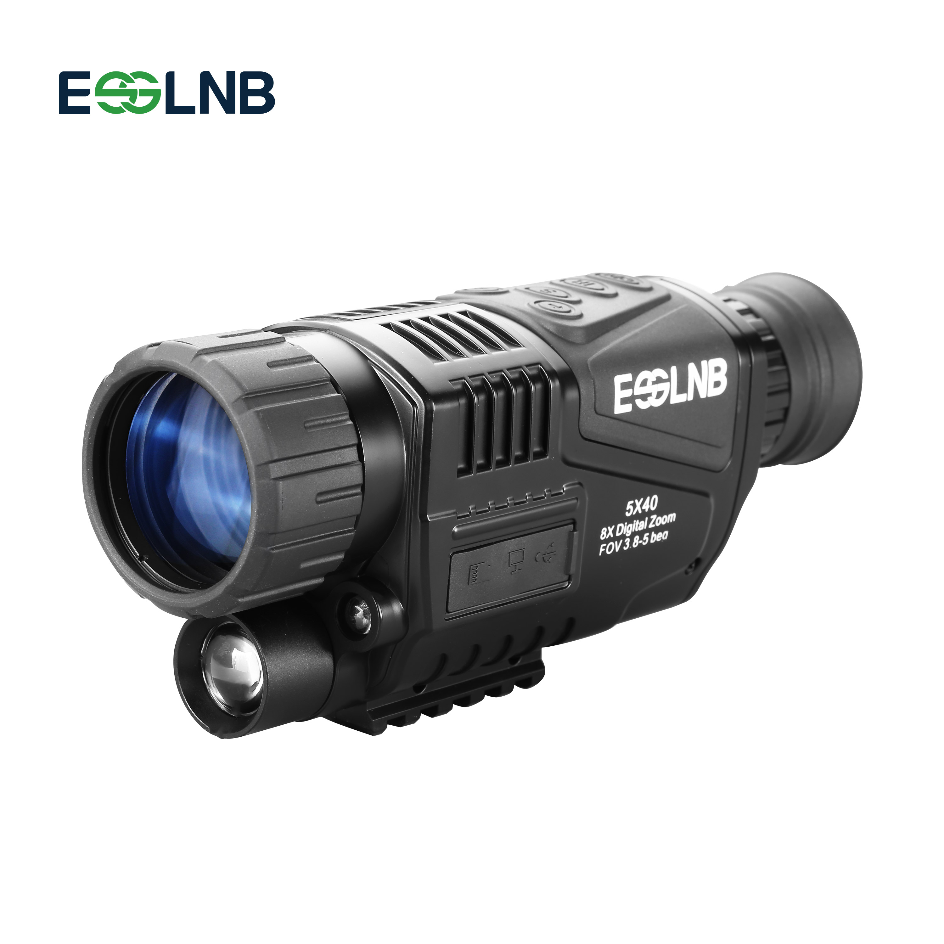 Infrared Digital Night Vision 5X40 Monocular Night Vision for Hunting Military with Rechargeable Battery 200M Range Telescope