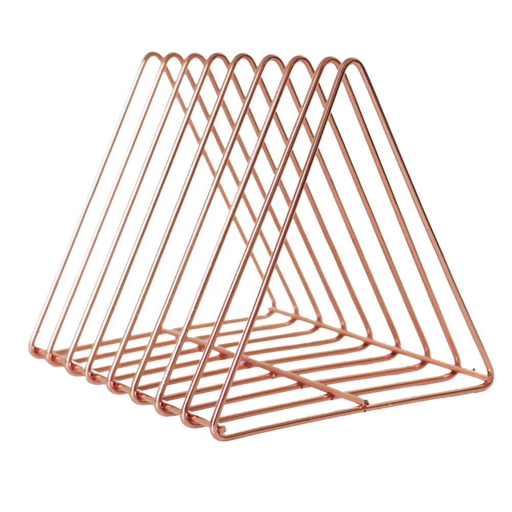 Треугольный держатель для книг современный уникальный настольный металлический