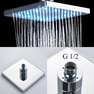 Image 2 - Uythner ensemble de robinets mitigeurs de douche à montage mural, système encastré effet cascade, pour salle de bains, baignoire chromé