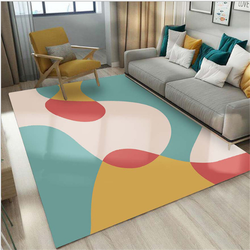 AOVOLL Nordic Soft Large Carpet Geometric Pattern Carpets For The Modern Living Room Bedroom Carpet Kids Room Bedroom Rugs