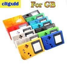 Cltgxdd ل عبة الصبي الكلاسيكية لعبة حالة البلاستيك شل غطاء لنينتندو GB وحدة التحكم الإسكان لعبة آلة قذيفة الملحقات