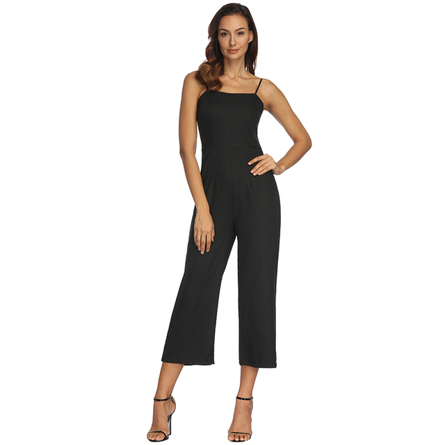High Quality Jumpsuits For Women 2018 Summer Rompers New Sexy Strap Wrapped Chest Collar Zipper Jumpsuit Vestidos De Festa