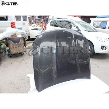W205 AMG style FULL Carbon fiber Car engine hood cover vents car bonnet for Mercedes Benz W205 C300 2015
