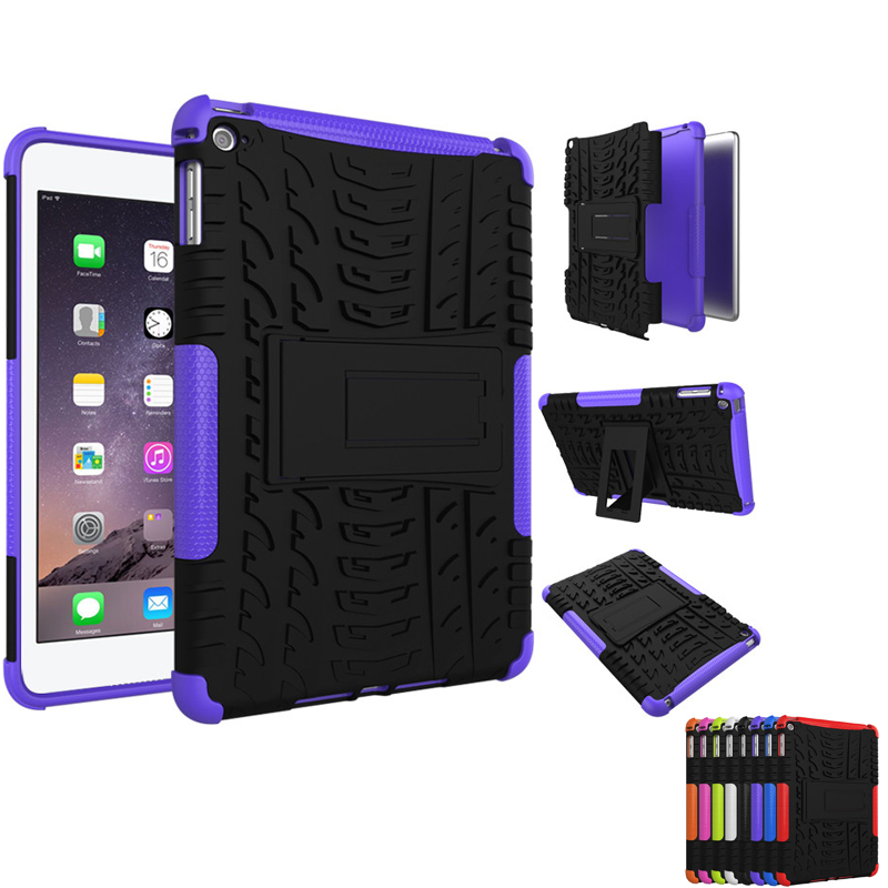 Shockproof Anti Skid Heavy Duty Cover Case with Kickstand for apple ipad mini 4 Tablet Protective Case for ipad mini 4 8 Colors