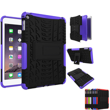 Shockproof Anti Skid Heavy Responsibility Cowl Case with Kickstand for apple ipad mini four Pill Protecting Case for ipad mini four eight Colours