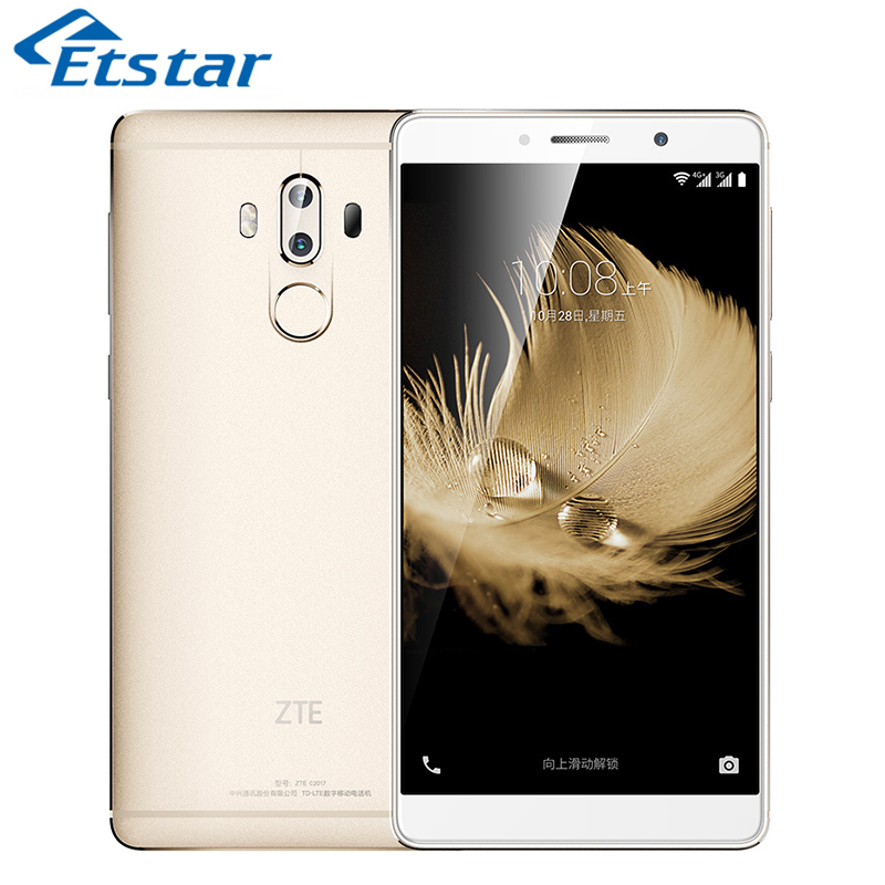 Цена за Оригинал ZTE Axon 7 Макс 6.0 Дюймов Мобильный Телефон Snapdragon 625 Octa Ядро 4 ГБ RAM 64 ГБ ROM Dual 13.0MP Задняя Камера 4100 мАч батареи
