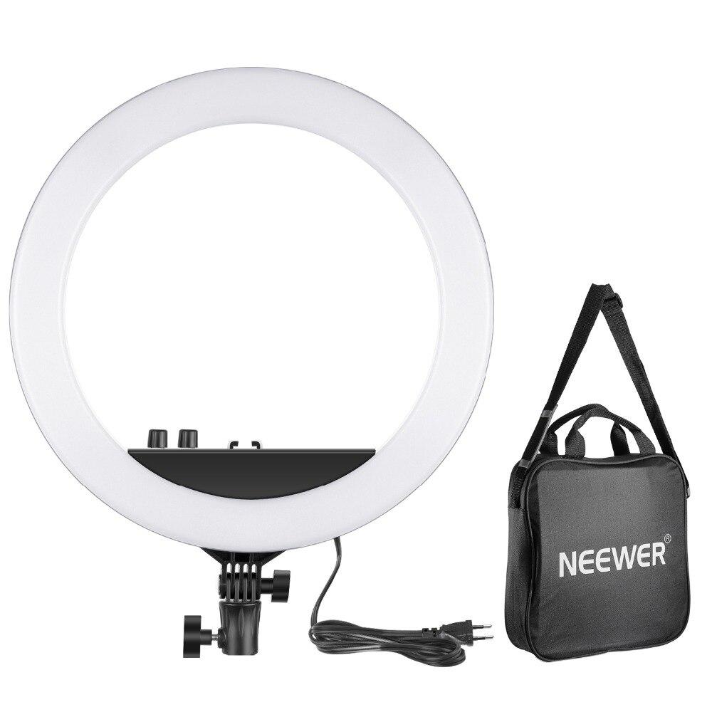 Neewer 14-дюймовый внешний затемнения Би-Цвет СВЕТОДИОДНЫЙ Кольцо света 30 W 3200 K-5600 K небольшой кольцо света для фото портретной фотографии/соста...